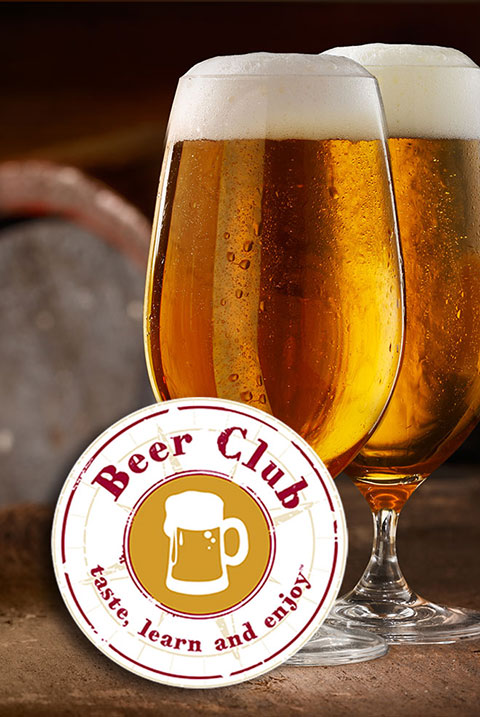 beer club logo with glasses of beer