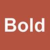 Bold style icon