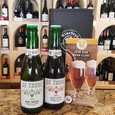 Beer Club brochure with beer bottles