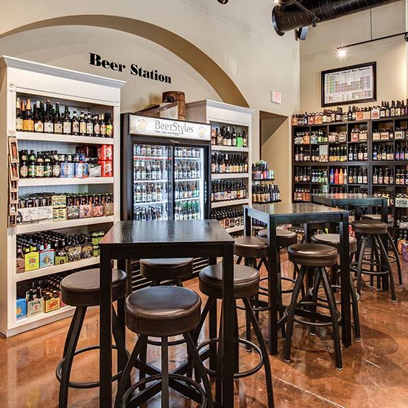 Coralville interior Beer Station