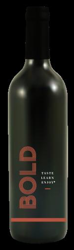 Bold Red Wine Bottle