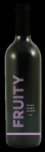 Fruity red wine bottle