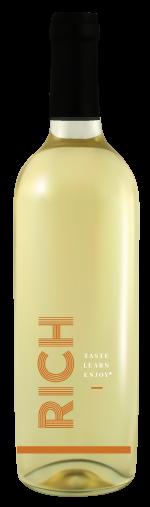 Rich white wine bottle