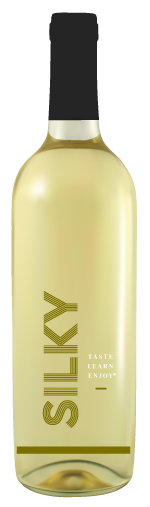 Silky white wine bottle